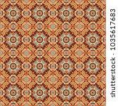 vector rich ornament. sloping... | Shutterstock .eps vector #1035617683
