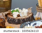 salty and cheese bar of several ... | Shutterstock . vector #1035626113