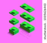 3d green constructor from lego... | Shutterstock .eps vector #1035626443
