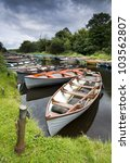 moored boats on river in... | Shutterstock . vector #103562807