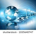 best internet concept of global ... | Shutterstock . vector #1035640747