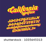 california handwritten... | Shutterstock .eps vector #1035645313