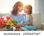 happy mother's day  child... | Shutterstock . vector #1035647467