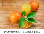Oranges  With Juice In Firing...