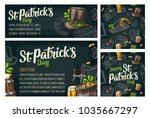 seamless pattern and poster for ... | Shutterstock .eps vector #1035667297