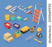 home repair service. vector set ... | Shutterstock .eps vector #1035669553