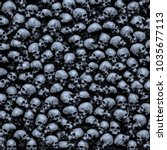 gothic skulls background   3d... | Shutterstock . vector #1035677113