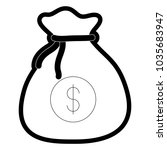 money sack icon | Shutterstock .eps vector #1035683947