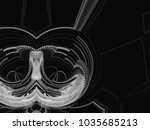 monochrome retro technology... | Shutterstock . vector #1035685213