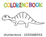 cute dino coloring book. | Shutterstock .eps vector #1035688543