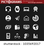 business management and human... | Shutterstock .eps vector #1035692017