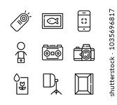 icons camera with picture frame ... | Shutterstock .eps vector #1035696817