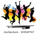 jumping peoples | Shutterstock .eps vector #103569767