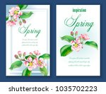 vector banners with a branch of ... | Shutterstock .eps vector #1035702223