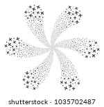 airplane curl abstract flower.... | Shutterstock .eps vector #1035702487