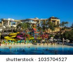 Small photo of Dubai, March 17 2014: Wild Wadi Waterpark. It is an outdoor adventures water park with many slides in Dubai, United Arab Emirates