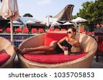summer lifestyle fashion... | Shutterstock . vector #1035705853