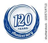 120 years anniversary.... | Shutterstock .eps vector #1035719713
