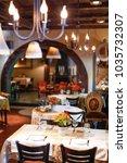 big classy restaurant interior... | Shutterstock . vector #1035732307