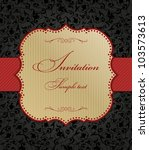 invitation cards in the baroque ... | Shutterstock .eps vector #103573613