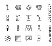 icons camera with contrast... | Shutterstock .eps vector #1035737227