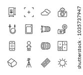 icons camera with memory card ... | Shutterstock .eps vector #1035737947
