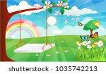 spring landscape plant  flower... | Shutterstock .eps vector #1035742213
