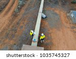 inspection of water pipeline in ... | Shutterstock . vector #1035745327