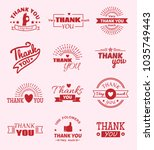 thank you quote slogan citate... | Shutterstock .eps vector #1035749443