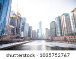 chicago downtown residential... | Shutterstock . vector #1035752767
