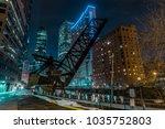 old closed kinzie bridge in... | Shutterstock . vector #1035752803