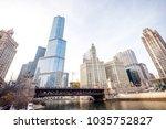chicago downtown street scene...   Shutterstock . vector #1035752827