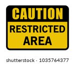 restricted area caution banner... | Shutterstock .eps vector #1035764377
