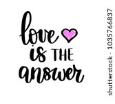 love is the answer vector... | Shutterstock .eps vector #1035766837