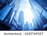 low angle view of business... | Shutterstock . vector #1035769357