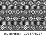 fabric pattern. tribal ornament.... | Shutterstock . vector #1035778297