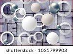 balls and circles on an... | Shutterstock . vector #1035799903