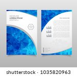modern brochure layout  flyer... | Shutterstock .eps vector #1035820963