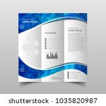 vector collection of tri fold... | Shutterstock .eps vector #1035820987