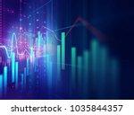 financial graph on technology... | Shutterstock . vector #1035844357