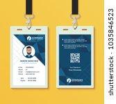 blue geometric id card design... | Shutterstock .eps vector #1035846523