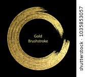 gold round design templates for ... | Shutterstock .eps vector #1035853057
