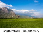 the green fields of south india.... | Shutterstock . vector #1035854077