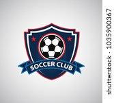 soccer football badge logo... | Shutterstock .eps vector #1035900367