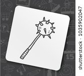 iron mace doodle | Shutterstock .eps vector #1035902047
