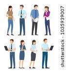 startup poster set of business... | Shutterstock .eps vector #1035939007
