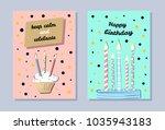 happy birthday banner  keep... | Shutterstock .eps vector #1035943183
