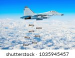 military fighter aircraft... | Shutterstock . vector #1035945457