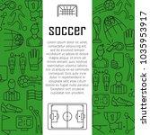soccer vector banner design... | Shutterstock .eps vector #1035953917