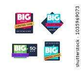big sale stickers collection ... | Shutterstock .eps vector #1035969073